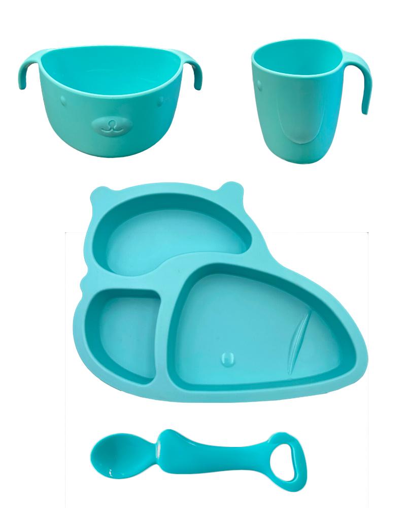 Картинка - Набор детской посуды для кормления 4 предмета