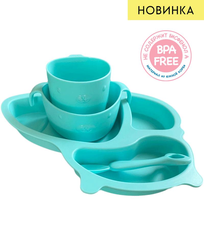 Набор детской посуды для кормления 4 предмета, NappyClub  - купить со скидкой