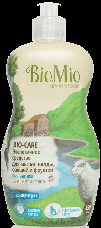 Жидкость для мытья посуды BIO MIO 450мл Bio-Care Хлопок фото