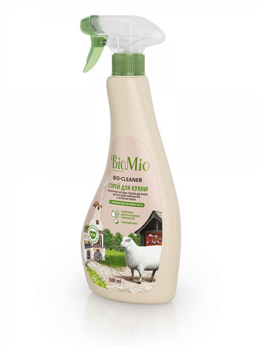 Картинка - Чистящее средство BIO MIO 500 мл Bio-Kitchen Лемонграсс