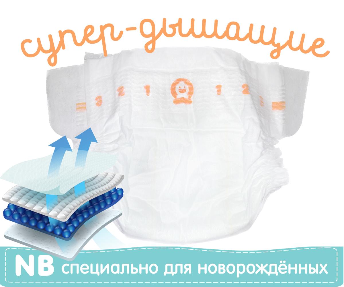 Картинка - Подарок Подгузники NewBorn Супер-дышащие