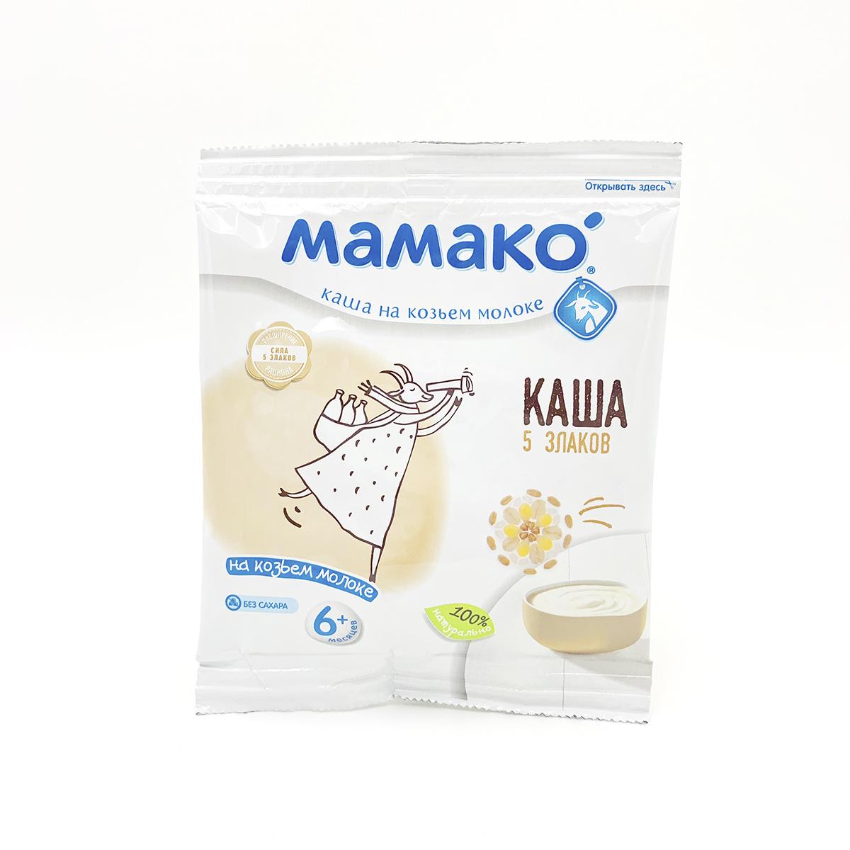 Каша 5 злаков на козьем молоке МАМАКО (пробник) фото